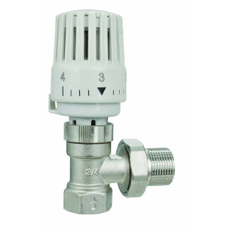 """Терморегулятор угловой 1/2"""" с термостат.клап и головкой SMT1201LN0004"""